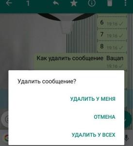 Как удалить сообщение из WhatsApp для всех